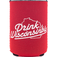 Image For Drink Wisconsinbly Can Coozie (Red)