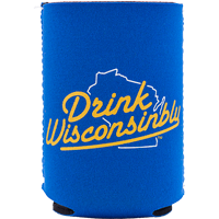 Image For Drink Wisconsinbly Can Coozie (Blue)