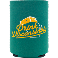 Image For Drink Wisconsinbly Cheesehead Can Coozie (Green)