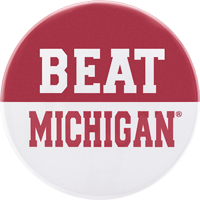 Cover Image For CDI Beat Michigan Button (Red/White)