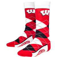 Image For For Bare Feet Wisconsin Argyle Socks (Red/White/Black)