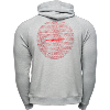 Cover Image for Under Armour Wisconsin Hype Full Zip Sweatshirt (Gray) *