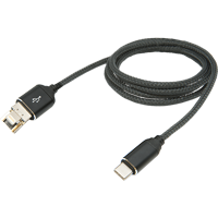 Cover Image For Indico Convertible Braided Lightning/USB to USB Cable: Black