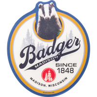 Cover Image For Blue 84 Badger Since 1848 Decal