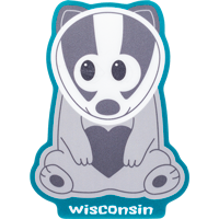 Cover Image For Blue 84 Cartoon Badger Decal
