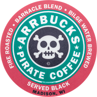 Cover Image For Blue 84 Arrbucks Pirate Coffee Decal