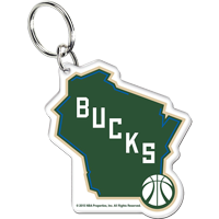 Image For WinCraft Milwaukee Bucks Acrylic Key Chain