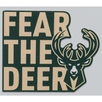 Image For WinCraft Milwaukee Bucks Fear the Deer Decal