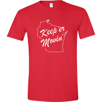Image For Manitowoc Minute Keep'er Movin' T-Shirt (Red) *