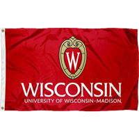 Cover Image For Sewing Concept Wisconsin Shield W Flag (Red)