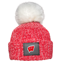 Image For Love Your Melon Wisconsin Hat with Pom (Red/White)