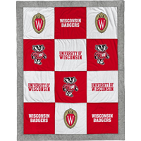 Image For League Wisconsin Shield Patch Blanket (Multi)