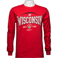 Image For 2020 Rose Bowl Game Top Promo Long Sleeve T-Shirt (Red) 3X