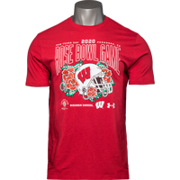Image For 2020 Rose Bowl Game UA Helmet T-Shirt (Red) 3X