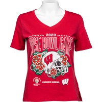 Image For 2020 Rose Bowl Game UA Women's T-Shirt (Red)
