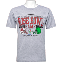 Image For 2020 Rose Bowl Game Blue 84 Big Rumble T-Shirt (Gray) 3X