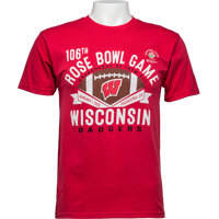 Image For 2020 Rose Bowl Game Blue 84 Wisconsin T-Shirt (Red) *