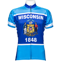 Image For Adrenaline Wisconsin Flag Bike Jersey (Blue)
