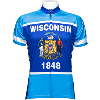 Cover Image for Adrenaline Wisconsin Flag Bike Jersey (Blue)