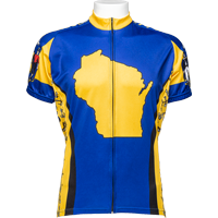 Image For Adrenaline Wisconsin Flag Bike Jersey (Yellow)