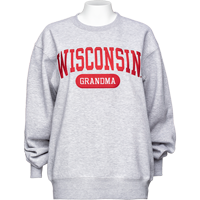 Image For Blue 84 Wisconsin Grandma Sweatshirt (Gray)