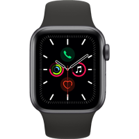 Image For Apple Watch Series 5 40mm S. Gray Aluminum Case - Sport Band