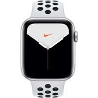 Image For Apple Watch Series 5 44mm Nike Silver Al. Case - Sport Band