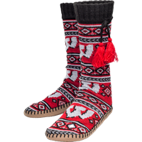 Image For Muk Luk Wisconsin Badgers Women's Slipper Sox