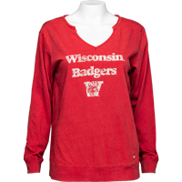 Image For '47 Brand Women's Wisconsin Badgers Long Sleeve (Red) *