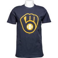Image For '47 Brand Milwaukee Brewers Glove T-Shirt (Navy)