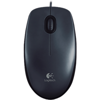 Image For Logitech M100 Wired Mouse: Black