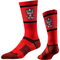 Image For Strideline Tokyodachi Bucky Badger Crew-Sock (Red)