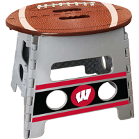 Image For Fanmats Wisconsin Folding Step Stool