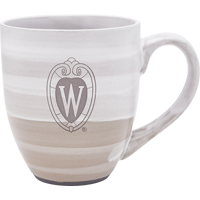 Image For LXG Inc. Wisconsin Shield Earthtones Mug (Cream)