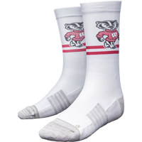Image For Strideline Bucky Badger Classic Crew Socks (White)