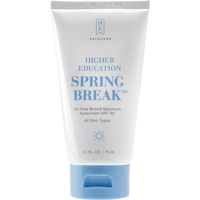 Cover Image For Higher Education Spring Break Broad-Spectrum Sunscreen