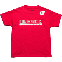 Image For ProEdge BSC Wisconsin Badgers Youth T-Shirt (Red) *