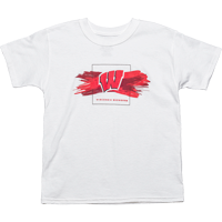 Image For ProEdge BSC Wisconsin Badgers Youth T-Shirt (White) *
