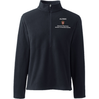 Image For Lands' End Outfitters WI Pharmacy Alumni ½ Zip (Black)