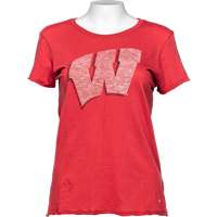 Cover Image For '47 Brand Women's Wisconsin W T-Shirt (Red)