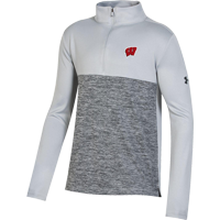 Image For Under Armour Youth Tech Twist ¼ Zip (Gray)