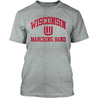Image For Top Promotions Wisconsin Marching Band T-Shirt (Gray)