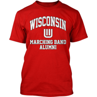 Image For Top Promotions WI Marching Band Alumni T-Shirt (Red)