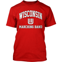Image For Top Promotions Wisconsin Marching Band T-Shirt (Red)