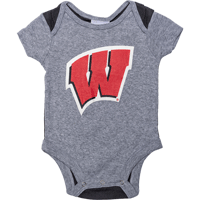 Image For BSC Infant Wisconsin Onesie (Black/Gray) *