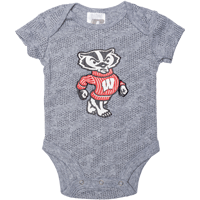 Image For BSC Bucky Badger Onesie (Gray) *