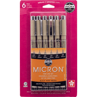 Cover Image For Pigma Micron Pen 6-Pack