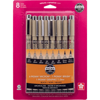 Image For Pigma Micron Pen 8-Pack