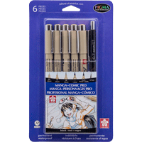 Image For Pigma Menga-Comic Pro Pen Set