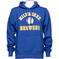 Image For '47 Brand Milwaukee Brewers Throwback Sweatshirt (Royal) *